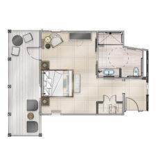 Burris Guestroom ADA Floor Plan