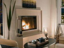 Deluxe Guestroom fireplace