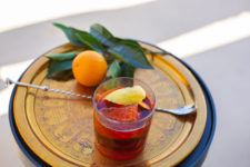 Negroni with citrus from the garden